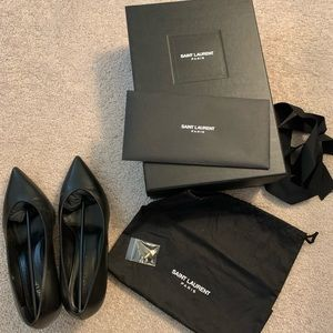 Saint Laurent Black Kitten Heels